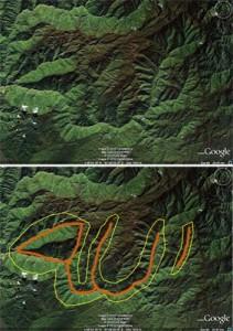 Citra satelit Google Earth. Diakses oleh Agung Dwinurcahya, staf BPKEL, pada Selasa (6/7).