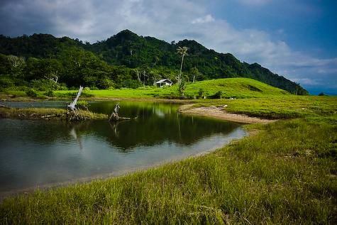 Rawa bekas gerusan tsunami.