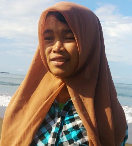 Raudhatul Jannah di pantai Ujong Kareung, Meulaboh, 26 Oktober lalu. | FOTO: Nurdin Hasan/ACEHKITA.COM