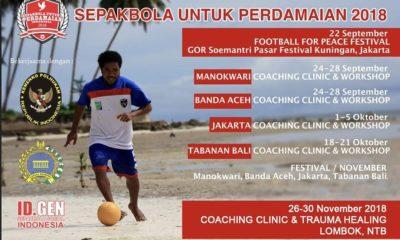 Sepak Bola untuk Perdamaian 2018 di Banda Aceh Resmi Bergulir