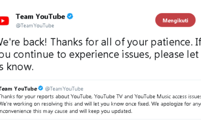 Youtube Down Kejadian Langka