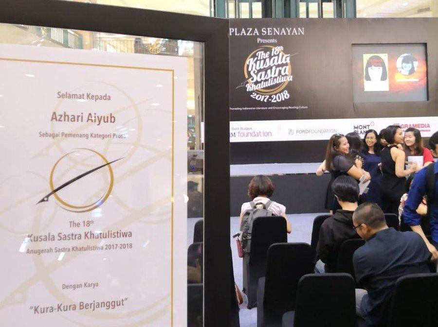 Novel Kura-kura Berjanggut Karya Azhari Aiyub Raih Kusala Sastra Khatulistiwa