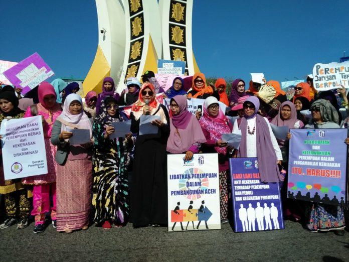 Rayakan IWD 2019, Perempuan Aceh Serukan Pemilu Bersih