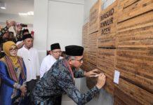 Plt Gubernur Aceh Resmikan Masjid Berkonstruksi Bambu di Lombok