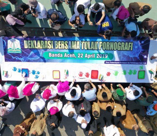 Plt Gubernur Aceh Pimpin Deklarasi Bersama Tolak Pornografi
