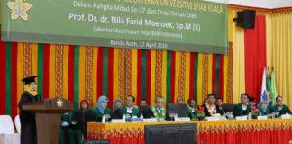 Orasi Ilmiah di Aceh, Menkes: Perlu Etika untuk Mencegah Penularan TBC