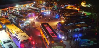 Suasana Terminal Batoh Saat Arus Mudik Lebaran 2019