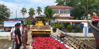 Bea Cukai Aceh Musnahkan 28 Ton Bawang Merah Selundupan