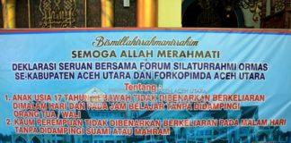 Pemkab Aceh Utara Deklarasi Larang Anak dan Perempuan Berkeliaran Malam