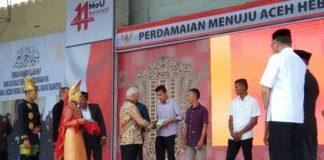 100 Eks Kombatan GAM Dapat Tanah 2 Ha di Peringatan 14 Tahun Damai Aceh