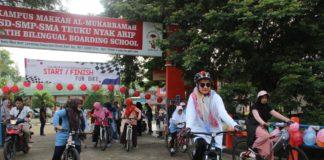 Sekolah Fatih Banda Aceh Gelar Fun Bike Bersama Orang Tua Siswa
